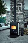 Отопительная печь-камин длительного горения FLAMINGO VEGA (белый), фото 3