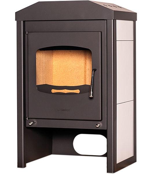 Отопительная печь-камин длительного горения FLAMINGO VEGA (белый)