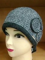 Silvia зимняя женская шапка Kamea, полушерстяная, графит цвет, фото 1