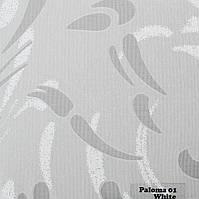 Рулонні штори Одеса Тканина Paloma 01 White