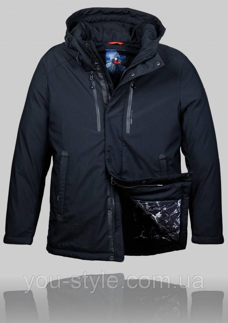 58a24d5e6d7bf Мужская Зимняя Куртка Malidinu 4449 Чёрная — в Категории