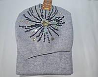 Набор Шапка с шарфом подростковая-женская теплая опт