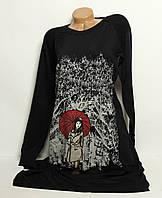 Женское стильное платье- туника в камнях