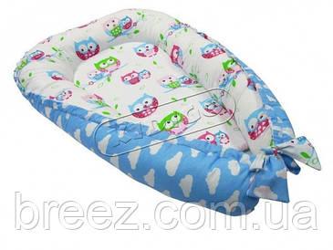 Кокон для новорожденных KIDIGO Тучки-совы