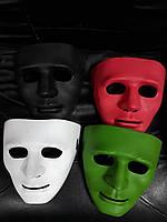 Маска карнавальная Безликий цвета красный, зеленый, черный, белый