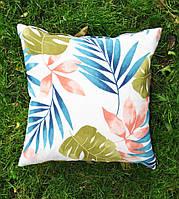 Подушка декоративная 40х40см. Тропик цветной.