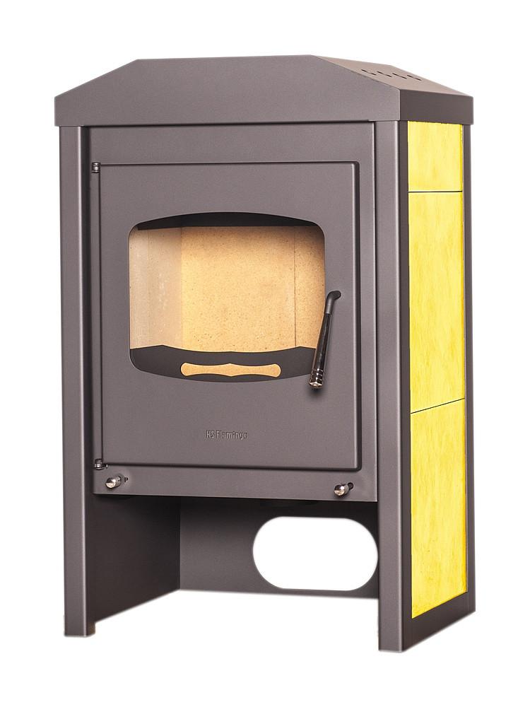 Отопительная печь-камин длительного грения FLAMINGO VEGA (желтый)