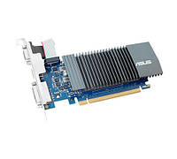Видеокарта GeForce GT710, Asus, 1Gb DDR5, 32-bit, VGA/DVI/HDMI, 902/5010MHz, Silent, Low Profile (GT710-SL-1GD