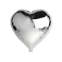 """Шар воздушный фольгированный Сердце 18"""" серебро"""