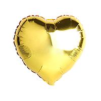 """Шар воздушный фольгированный Сердце 18"""" золото"""