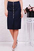 Юбка Селена 3цв, юбка коттоновая, юбка прямая, черная юбка прямая, дропшиппинг