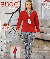 Теплая женская пижама №2044 флис