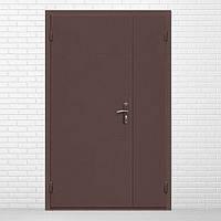 Двери входные полуторные технические металл/металл 0,8мм