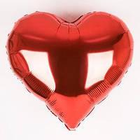 """Шар воздушный фольгированный Сердце 18"""" красное"""