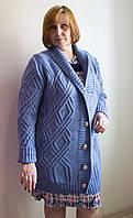 Кофта женская больших размеров № 1701 р. 50-54 (универсал) голубой