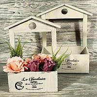 Деревянный ящик (кашпо) для флористики 6926-5 (комплект 2 шт)