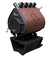 Печка Булерьян Rud Pyrotron Кантри 02 С обшивкой декоративной (коричневая)