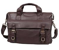 Мужская сумка-портфель из натуральной высококачественной кожи коричневая