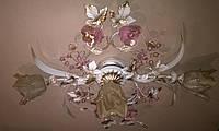 Потолочная люстра в стиле флористика на три плафона 04545/2+1 WR