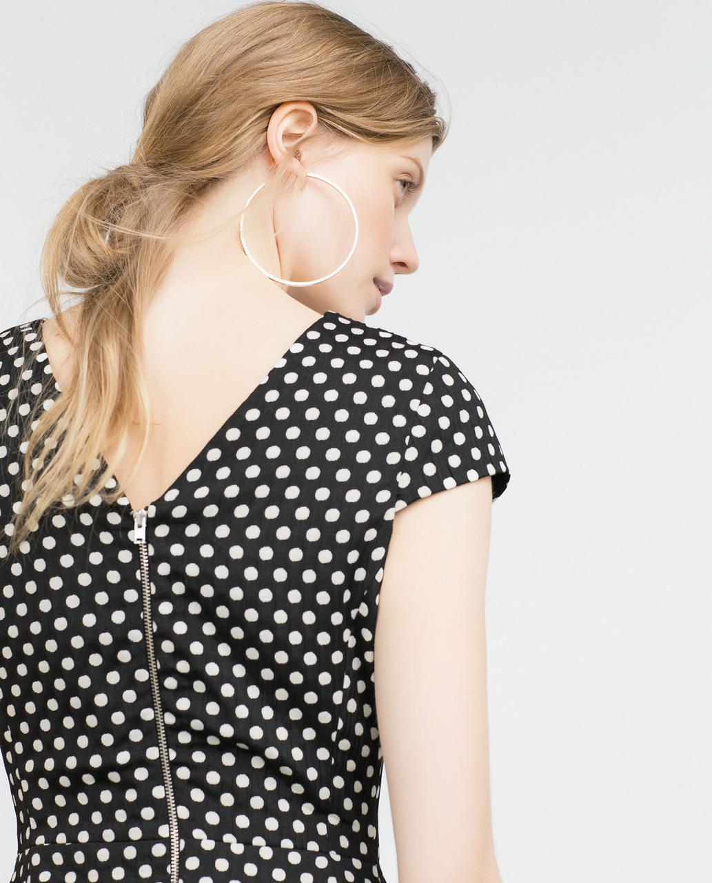 Новое платье горошек Zara