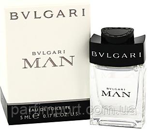 Bvlgari Man EDT 5 ml туалетная вода мужская (оригинал подлинник  Италия)