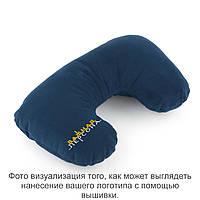 Подушка подголовник синий флок с лого Важная персона такси