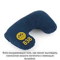 Подушка підголовник синій флок з лого 838 taxi