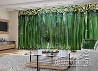"""3D - Фото Штори і тюль """"Ламбрекени з квітів і листя"""" під індивідуальний розмір"""