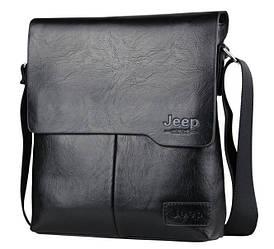 Черная мужская сумка через плечо Jeep