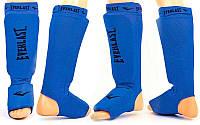 Защита для голени и стопы чулочного типа с фиксатором на липучке EVERLAST синий