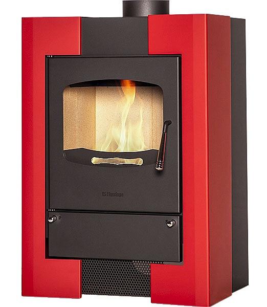 Отопительная печь-камин длительного горения FLAMINGO ESPO I (красный)