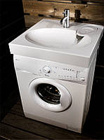 Раковина над стиральной машиной 60х60 см белая