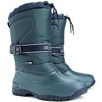 Зимние сноубутсы Demar Cross зеленые р.36-42 взрослым и детям (унисекс) не промокают, не продуваются