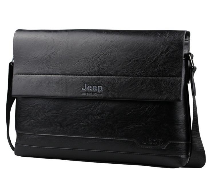 Сумка мужская формата A4 Jeep черная
