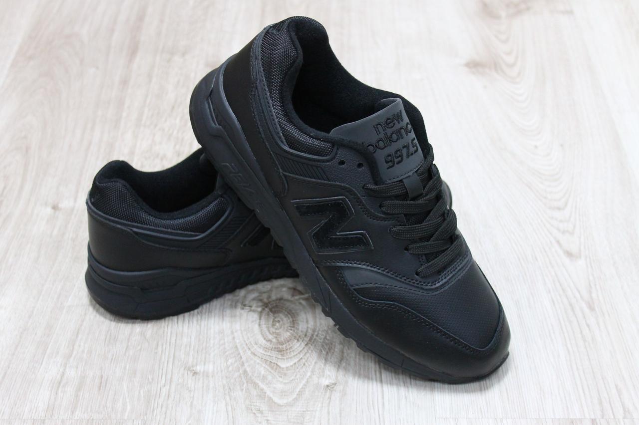 Кожаные мужские кроссовки Нью Баланс черные - КОРОЛЕВА МОДЫ в Одессе 94b2ff144e9aa