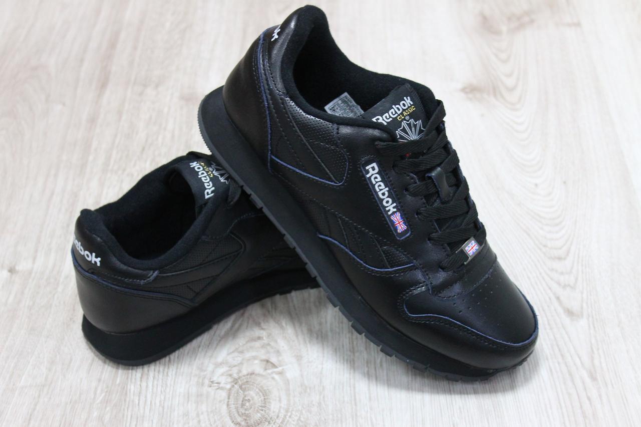 7ceac04cd Кожаные мужские кроссовки Reebok черные: продажа, цена в Одессе ...