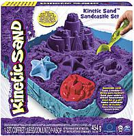 Набор песка для детского творчества - KINETIC SAND ЗАМОК ИЗ ПЕСКА (фиолетовый, 454 г, формочки, лото (71402P)