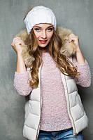 Женская зимняя белая шапка 17160
