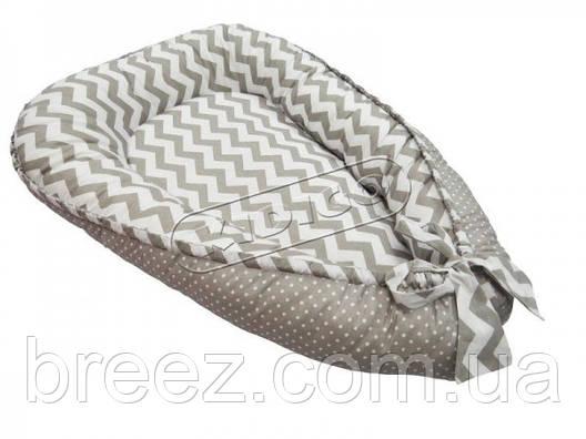 Кокон для новорожденных KIDIGO Зигзаги-горошек, фото 2