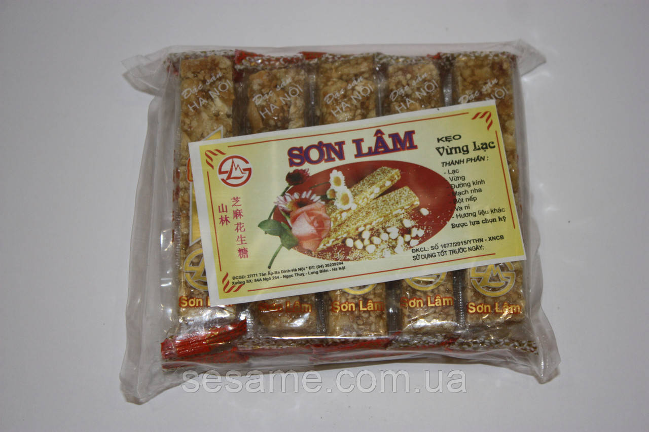 Козинаки Keo Vung Lac из кунжута с арахисом 200г (Вьетнам)