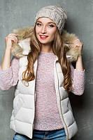 Женская зимняя шапка 17162 ЛЁН