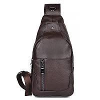 Красивый практичный модный кожаный рюкзак,  4004C  Коричневый