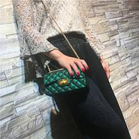 Сумочка Chanel 2017 - Темно-зеленая
