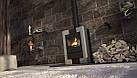 Отопительная печь-камин длительного горения FLAMINGO ESPO I (серый), фото 5