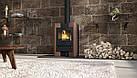 Отопительная печь-камин длительного горения FLAMINGO ESPO I (коричневый бархат), фото 5