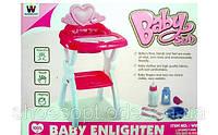 Стульчик для кормления пупса Baby Born с посудой