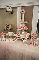 Свадебный Кенди бар в  пудровом  цвете (под ключ) на 50 чел