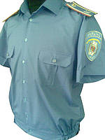 Форменная рубашка голубая на короткий рукав