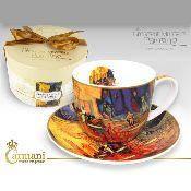 """Чашка с блюдцем Ван Гог """"Ночное кафе в Арле"""""""