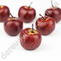 Декоративные яблоки, бордовые, 3.5×3 см, 20 шт.